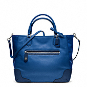 POPPY COLORBLOCK LEATHER SMALL BLAIRE TOTE