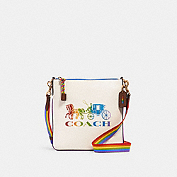 JES SLIM CROSSBODY WITH RAINBOW HORSE AND CARRIAGE - IM/CHALK MULTI - COACH 2505