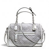 POPPY QUILTED JERSEY EAST/WEST POCKET SATCHEL