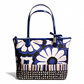 POPPY FLORAL SCARF PRINT SMALL TOTE