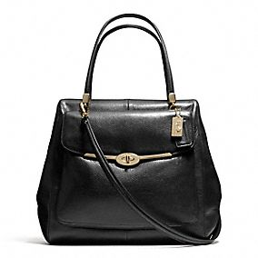 MADISON NORTH/SOUTH SATCHEL IN LEATHER