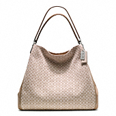 MADISON OP ART NEEDLEPOINT PHOEBE SHOULDER BAG