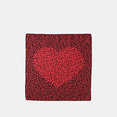 葉子印花絲質手巾