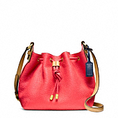 SOFT LEGACY PEBBLED LEATHER DRAWSTRING CROSSBODY
