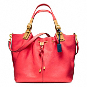 SOFT LEGACY PEBBLED LEATHER DRAWSTRING XL SHOULDER BAG