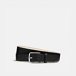 HARNESS BUCKLE DRESS BELT, 32MM - BLACK - COACH 25428