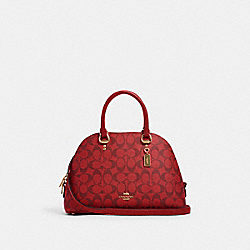KATY SATCHEL IN SIGNATURE CANVAS - IM/1941 RED - COACH 2558