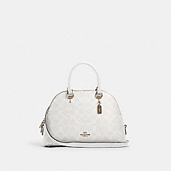 KATY SATCHEL IN SIGNATURE CANVAS - IM/CHALK/GLACIERWHITE - COACH 2558