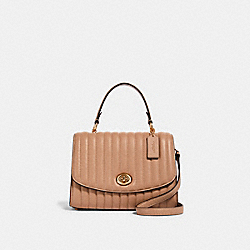 TILLY TOP HANDLE WITH LINEAR QUILTING - IM/TAUPE - COACH 2562
