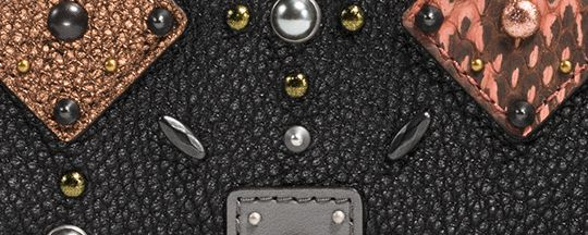 Coach Crossbody Clutch With Prairie Rivets And Snakeskin Detail Coach