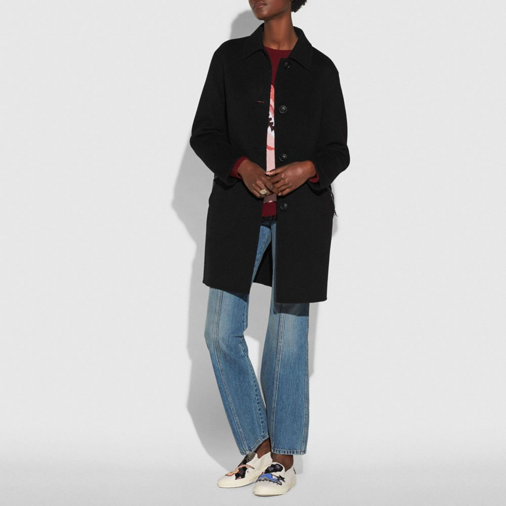 Coach Luxury Wool Coat Alternate View 1