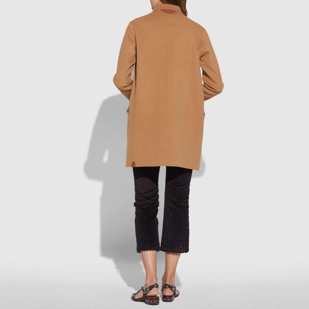 Coach Luxury Wool Coat Alternate View 2