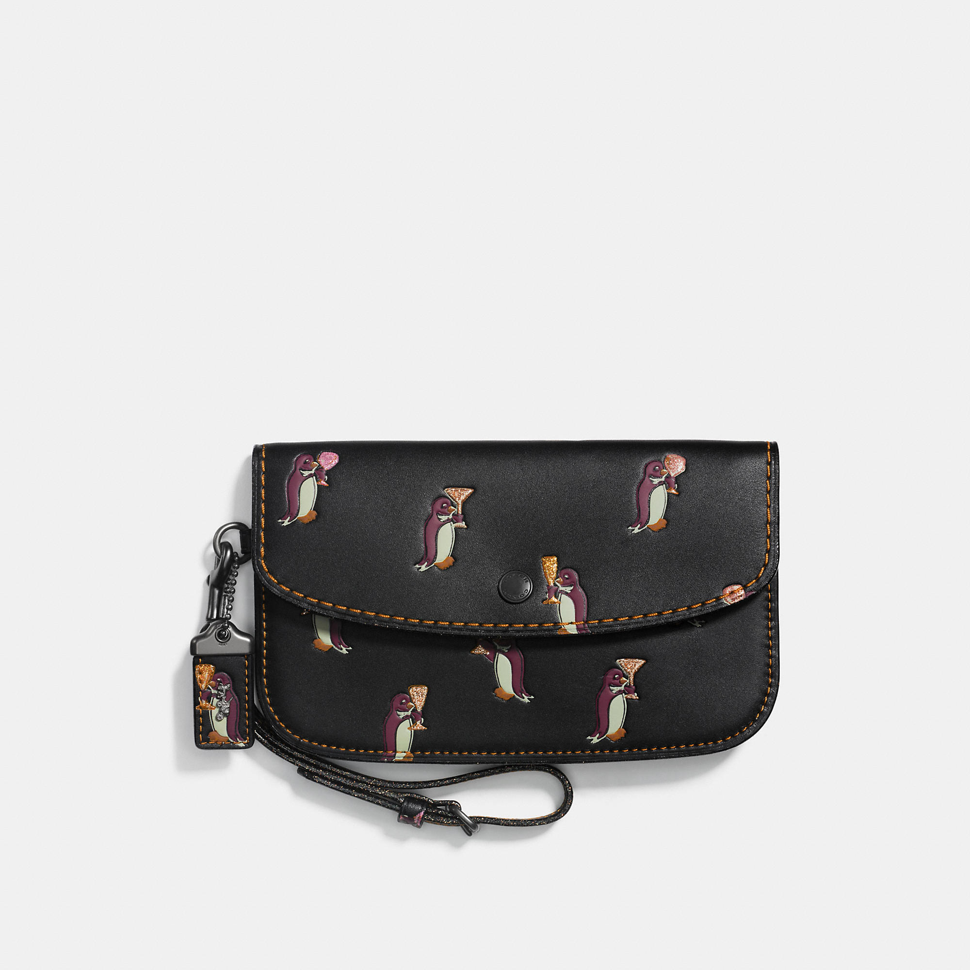 Coach Clutch With Penguin Print