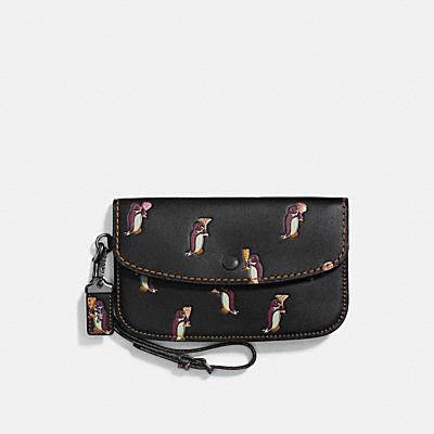 企鵝印花手袋