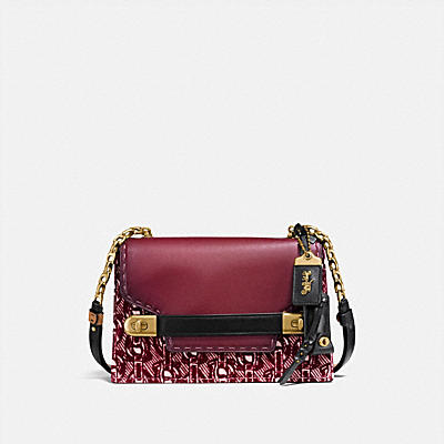 COACH SWAGGER CHAIN CROSSBODY WITH SIGNATURE CHAIN PRINT