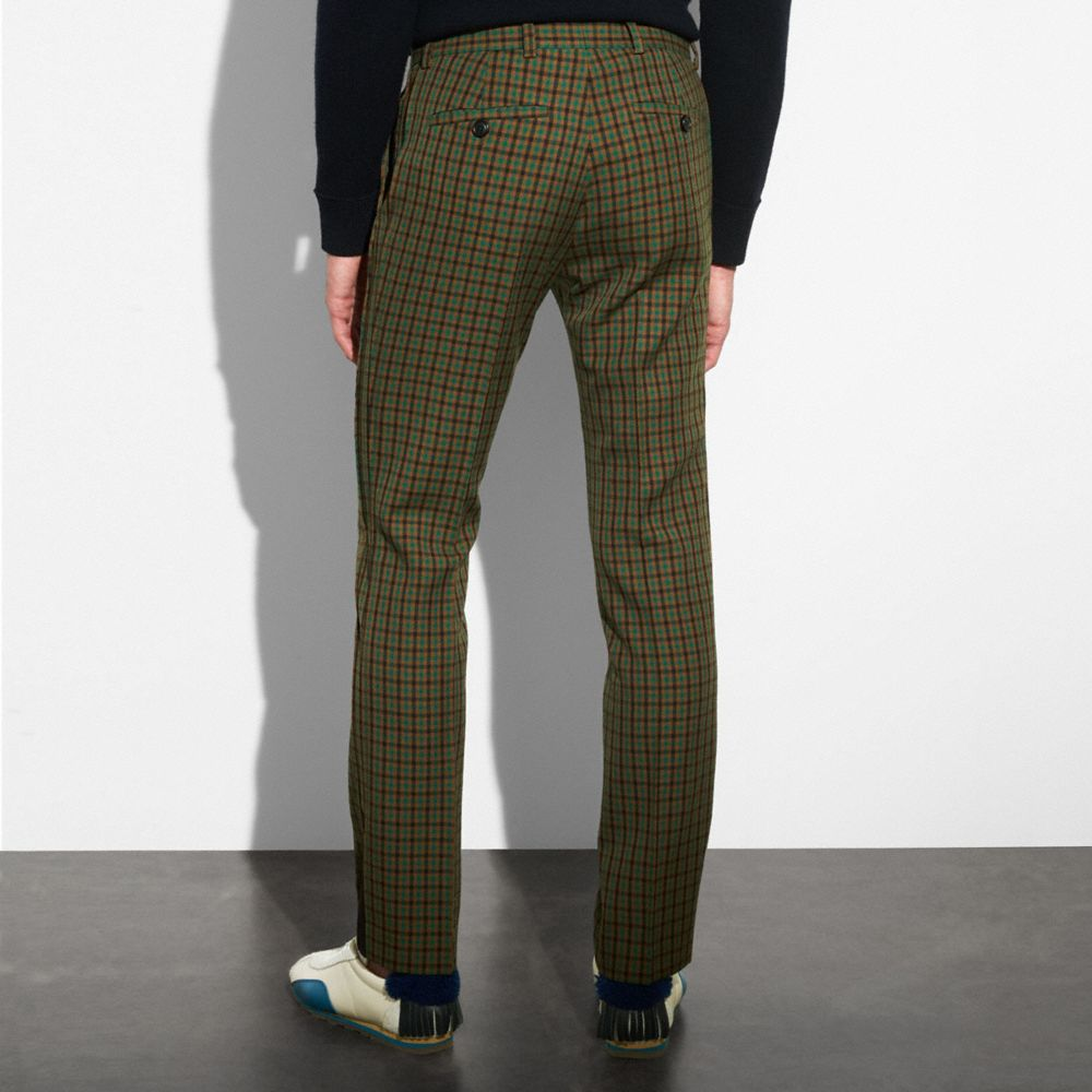 Coach Gingham Straight Leg Trouser Alternate View 2