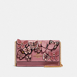 FLAP BELT BAG WITH BUTTERFLY APPLIQUE - IM/ROSE MULTI - COACH 2606