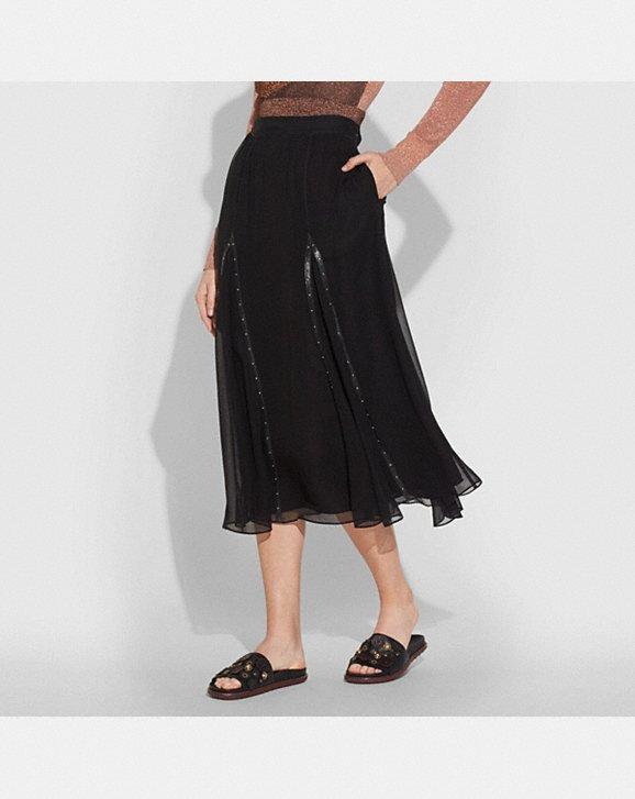 Coach Prairie Rivets Long Skirt