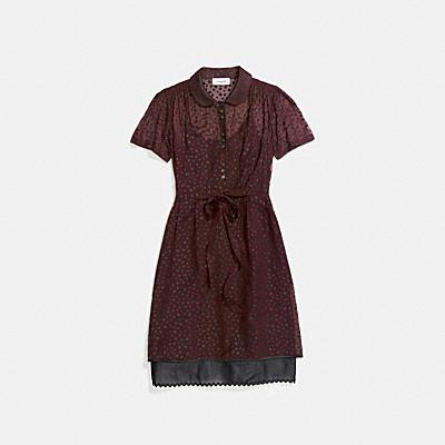 スター プリント シャツ ドレス
