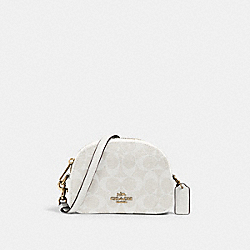 MINI SERENA CROSSBODY IN SIGNATURE CANVAS - IM/CHALK/GLACIERWHITE - COACH 2628