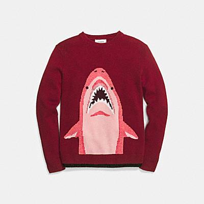 SHARKY 鯊魚嵌花毛衣