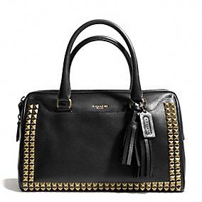 LEGACY HALEY SATCHEL IN STUDDED LEATHER