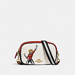 COACH │ MARVEL CONVERTIBLE BELT BAG WITH CAROL DANVERS - IM/CHALK MULTI - COACH 2640