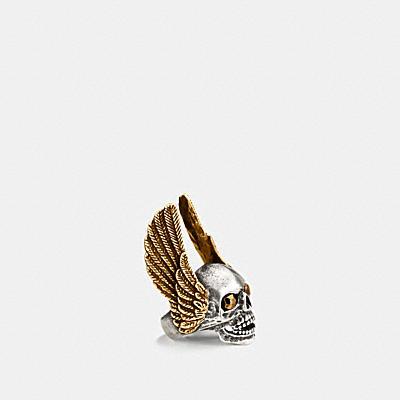 大型翅膀骷髏戒指