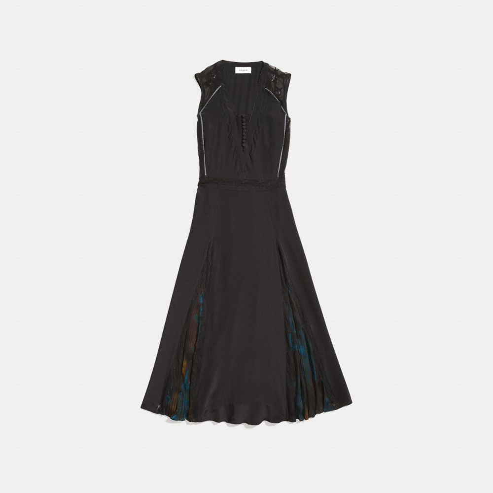 Coach Sleeveless Pleated Dress