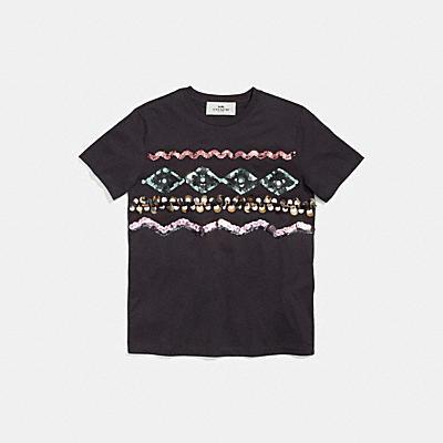 지그재그 임벨리쉬드 티셔츠