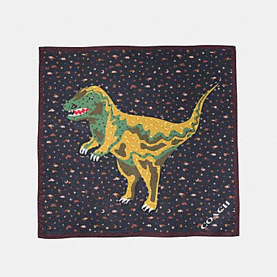 COACH REXY 恐龍補丁大型方巾