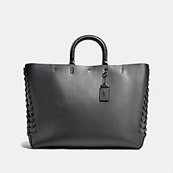 ROGUE TOTE WITH COLORBLOCK COACH LINK DETAIL - BP/GRAPHITE - COACH 26887