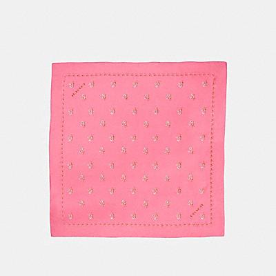 花卉領結印花絲質方巾
