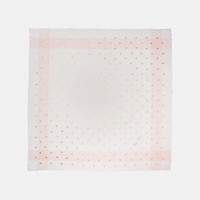 金屬風領結印花格子方巾