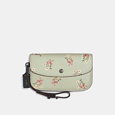 花卉領結印花手拿包