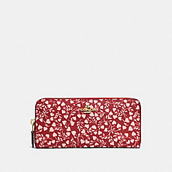 BOXED SLIM ACCORDION ZIP WALLET WITH LOVE LEAF PRINT - LI/LOVE LEAF - COACH 27111B