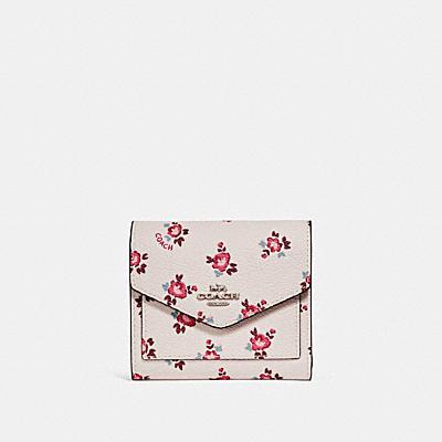 花卉印花小型皮夾