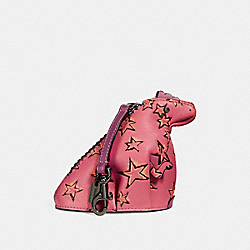 REXY COIN CASE WITH STARLIGHT PRINT - DK/BRIGHT PINK - COACH 27131