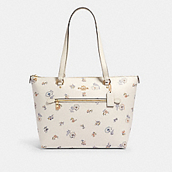 GALLERY TOTE WITH DANDELION FLORAL PRINT - IM/CHALK/ BLUE MULTI - COACH 2713