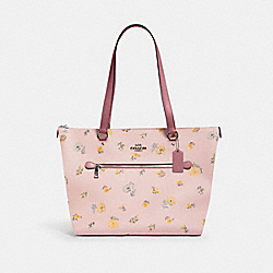 GALLERY TOTE WITH DANDELION FLORAL PRINT - SV/BLOSSOM GREEN MULTI - COACH 2713