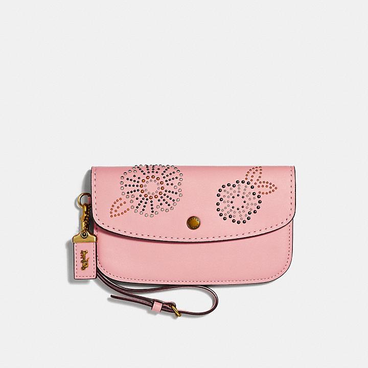 Boutique En Vente Thé Entraîneur Embrayage Rose Et Rivets - Rose Et Violet La Fourniture Acheter Pas Cher Extrêmement lh2I9Q