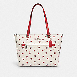 GALLERY TOTE WITH LADYBUG PRINT - SV/CHALK/ RED MULTI - COACH 2720