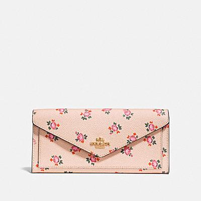 花卉印花柔軟皮夾