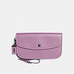 LARGE CLUTCH - JASMINE/BLACK COPPER - COACH 27528