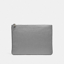 LARGE MULTIFUNCTIONAL POUCH - HEATHER GREY - COACH 27564