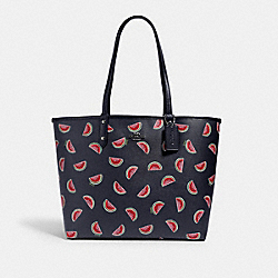 REVERSIBLE CITY TOTE WITH WATERMELON PRINT - SV/MIDNIGHT MULTI/MIDNIGHT - COACH 2779