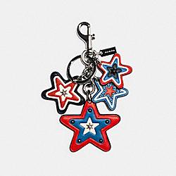 AMERICANA CLUSTER STAR BAG CHARM - SV/MIDNIGHT NAVY/RED - COACH 2804