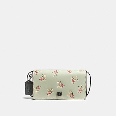 DINKY 花卉領結印花手袋