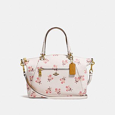 草原風格花卉領結印花手袋