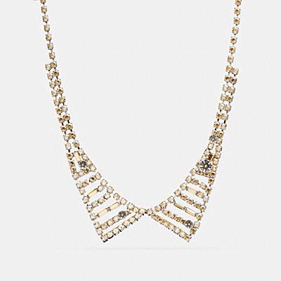 小型水晶領口項鍊